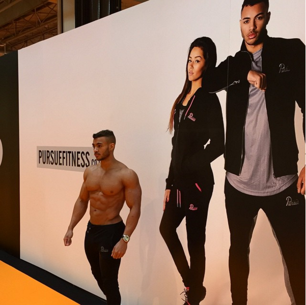 My shot for Pursue Fitness blown up down at Body Expo